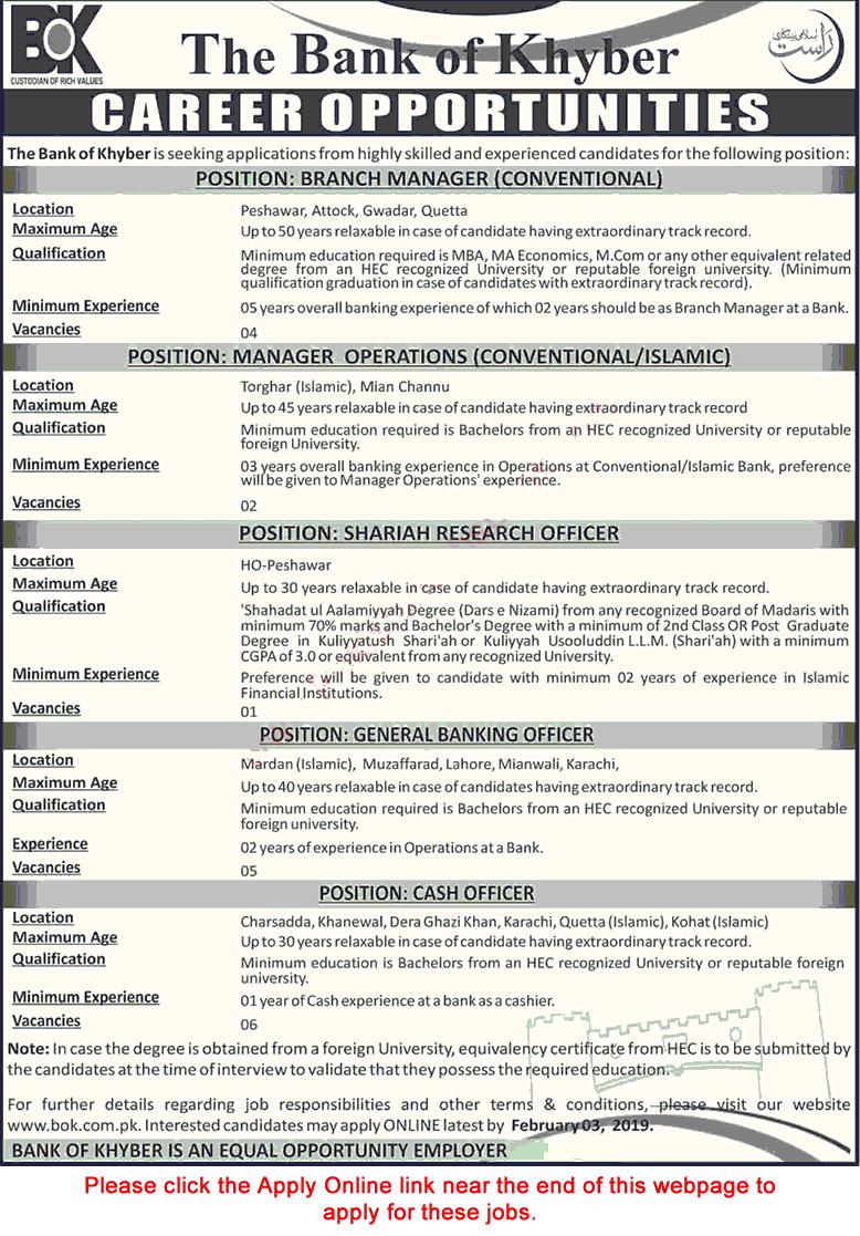 bank jobs in pakistan