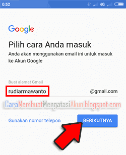 contoh email di android xiaomi