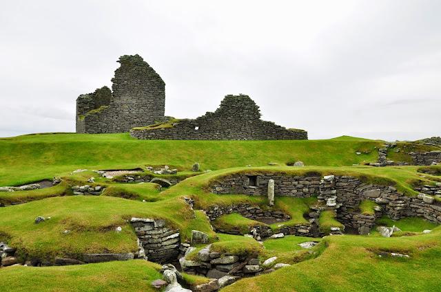 wielokulturowe stanowisko archeologiczne w Jarlshof, Szetlandy - epoka żelaza