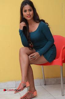 Telugu Actress Prasanthi Stills in Green Short Dress at Swachh Hyderabad Cricket Press Meet  0085.JPG