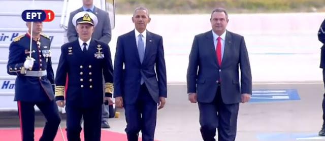 Άφιξη του Μπαράκ Ομπάμα στην Αθήνα (βίντεο)