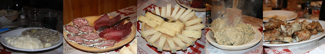 Pizzoccheri e Risotto al Bitto, Salame e Bresaola, Bitto e Casera, Polenta Taragna e Costine di Maiale