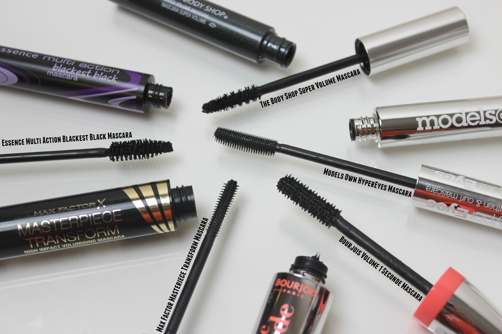 A picture of the best budget mascaras