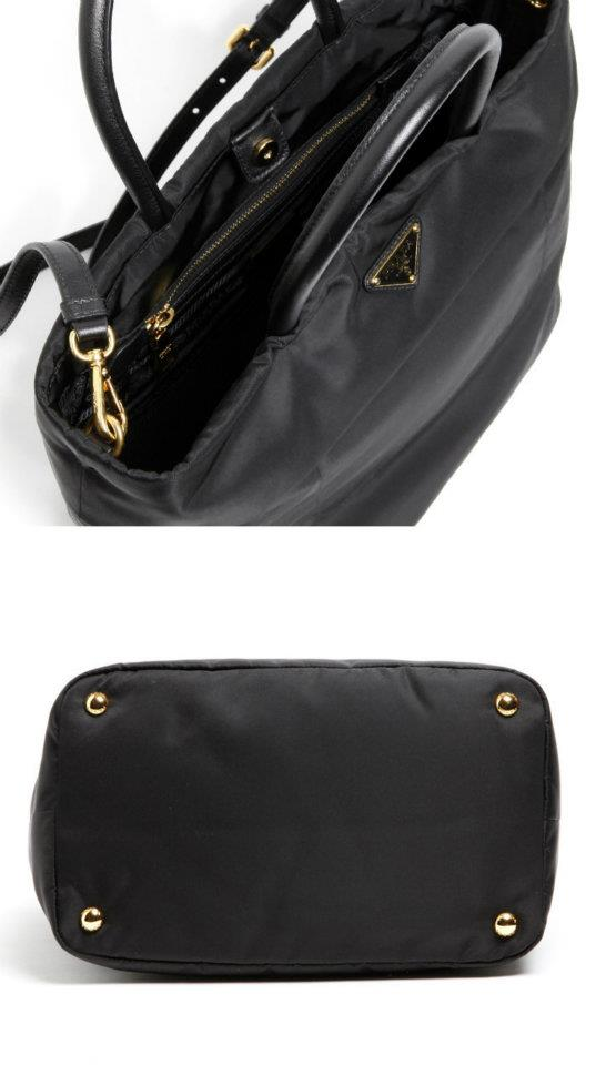 51aeae77427c9b Material: Tessuto nylon & leather. Colour: Black Approx Size:  L27xH24xW17cm. Comes with:Authenticity Card,Dust Bag,Gift Receipt From  ITALY Prada Store