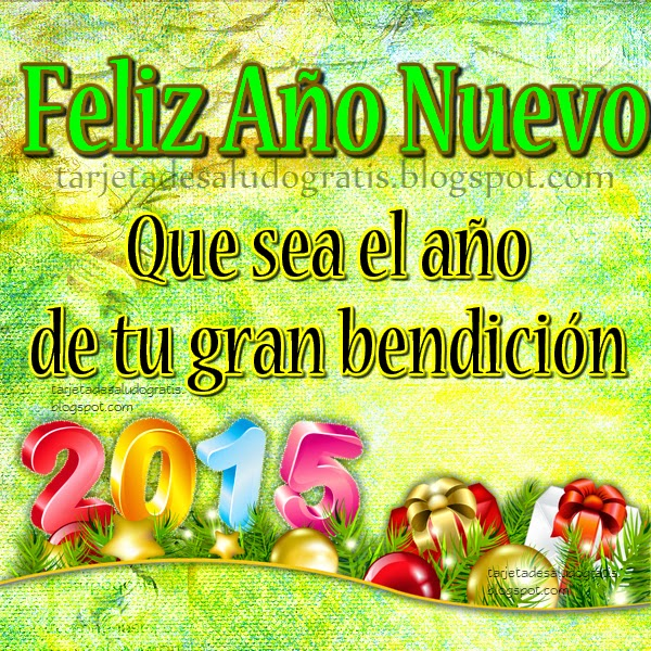 Postal Feliz Año Nuevo con bendición para amigos y familiares