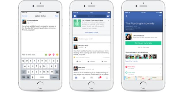 الفيسبوك يساعدك على مساعدة الآخرين أثناء الأزمات
