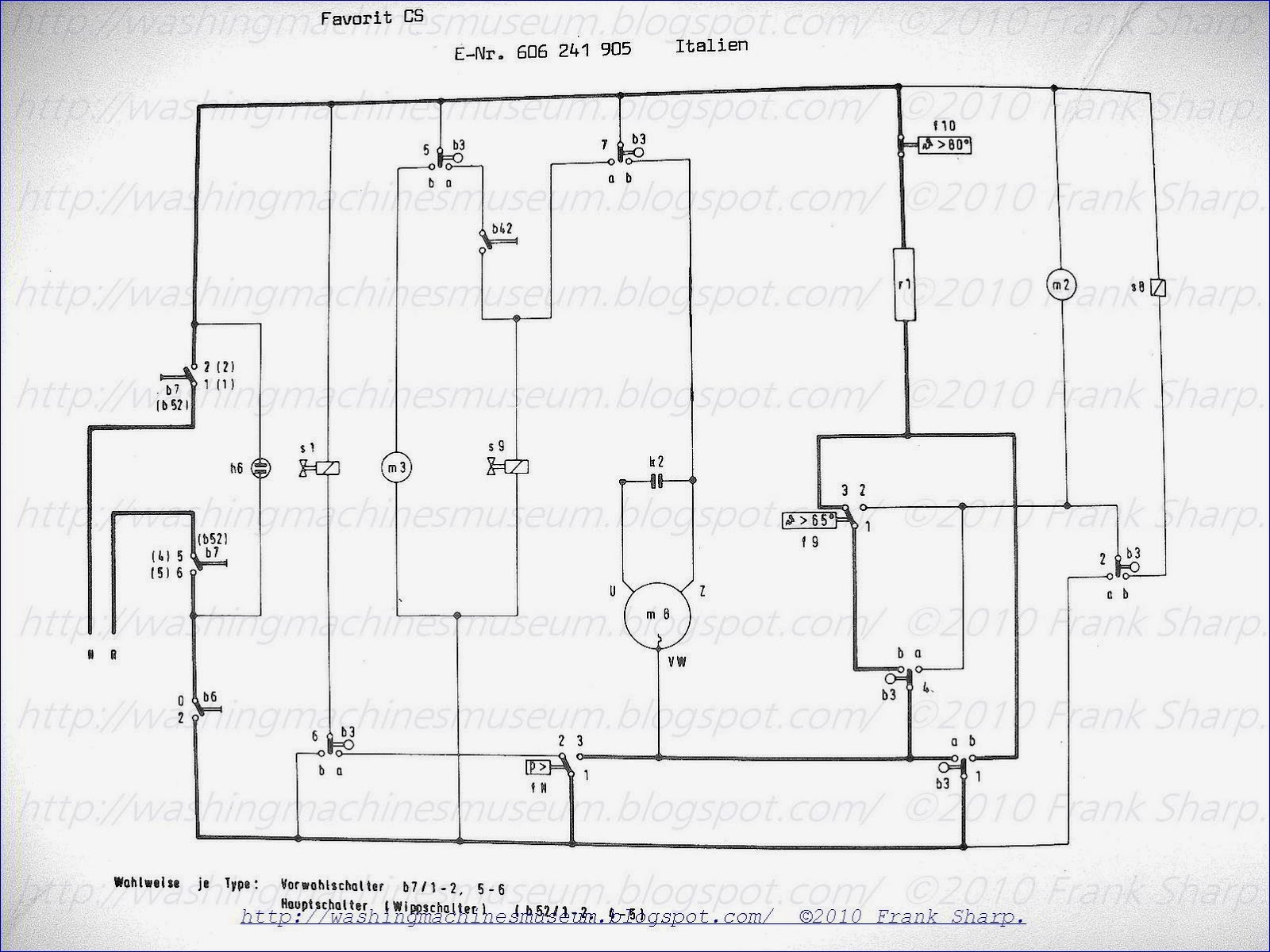 zanussi washing machine wiring diagram