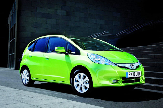 2012 Honda Jazz Hybrid Lime Green Auto Car