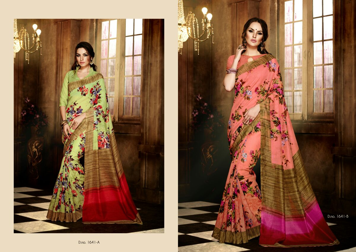 Handloom Silk-Latest Fashion Designer Silk printed Saree