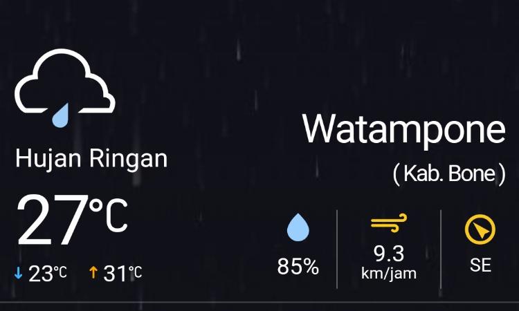 BMKG Prediksi Bone Cerah Siang Hari an Diguyur Hujan Malam In