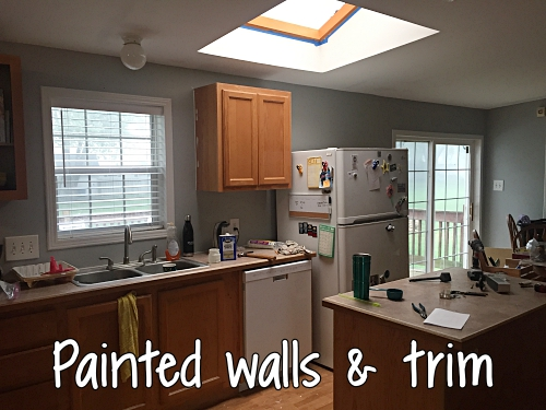 painted walls and trim