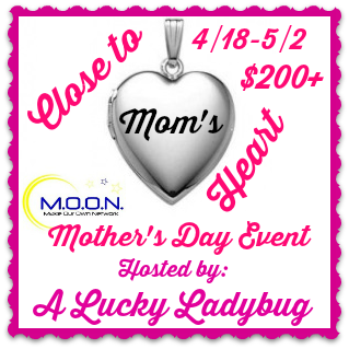 Enter the Close to Mom's Heart Giveaway. Ends 5/2.