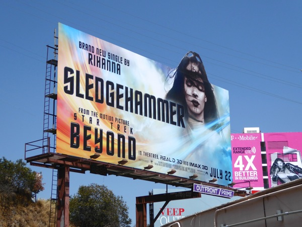 Rihanna Sledgehammer Star Trek Beyond single billboard