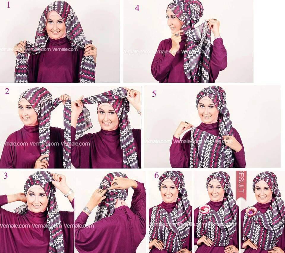18 Tutorial Hijab Pashmina Ala Arab Tutorial Hijab Terbaru Tahun 2017