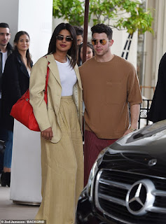Priyanka Chopra nails androgynous chic in sand-coloured suit alongside husband Nick Jonas