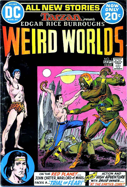 Weird Worlds #1, 1972 dc bronze age comic book cover by Joe Kubert