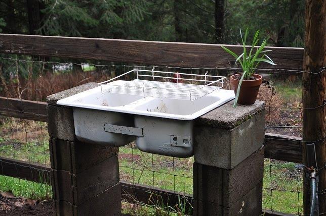 Panther Creek Cottage: The Washing Station