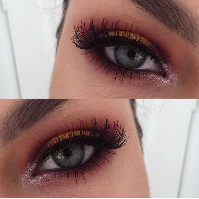Kat Von D, colourful makeup, eyesahodw