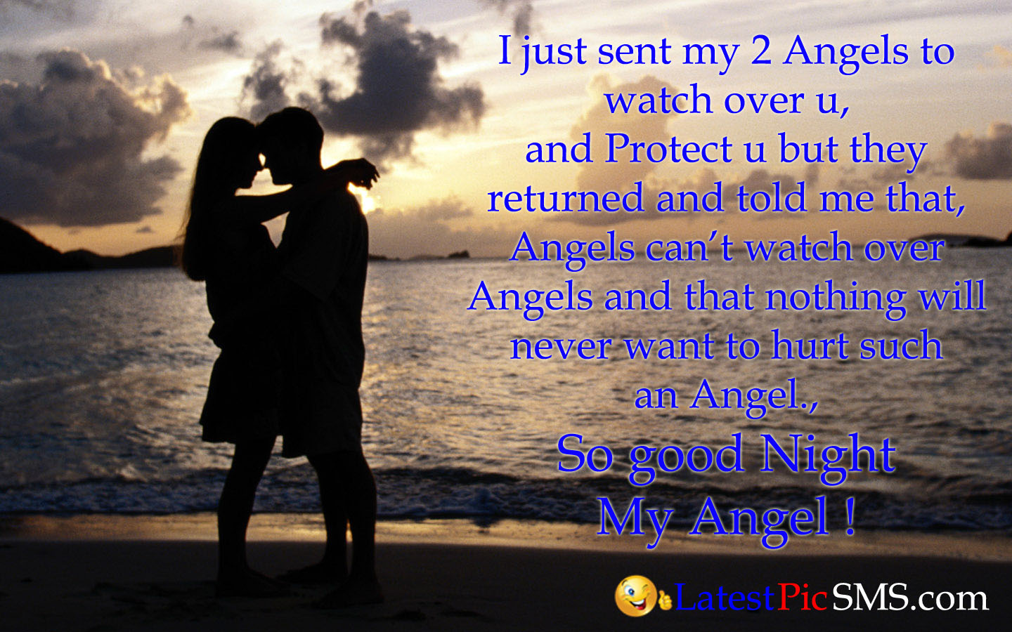 good night angel love pics quote - Good Night Love Messages with Photos for Whatsapp & Facebook
