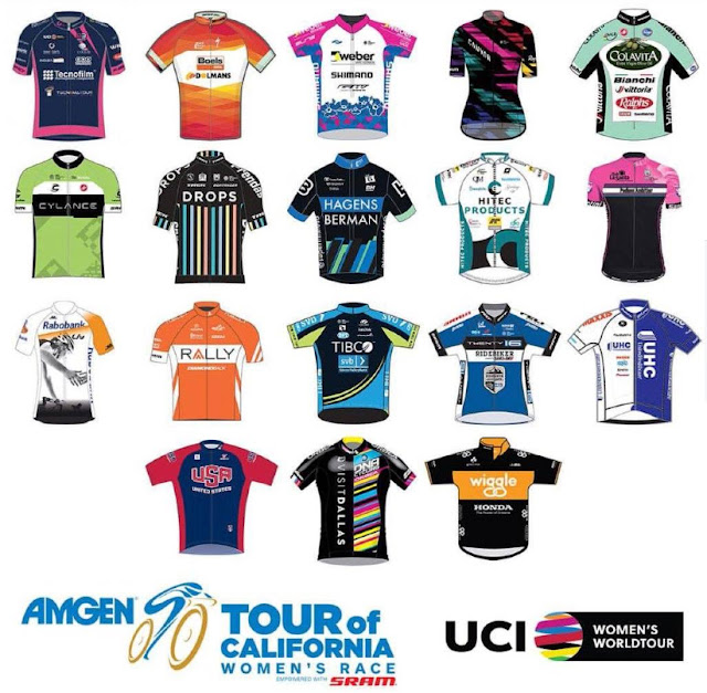 Women's team jersey 2016 Amgen Tour of Califorrnia