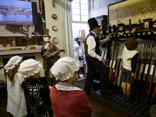 Monsieur Brunel (Mk1 and 2) entertain some Victorian Friends at Newton Abbot Museum