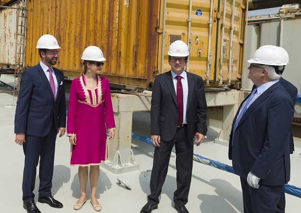 Prince Guillaume and Princess Stephanie visited Dubai Chamber of Commerce, Expo 2020 Dubai construction site and Dubai harbour