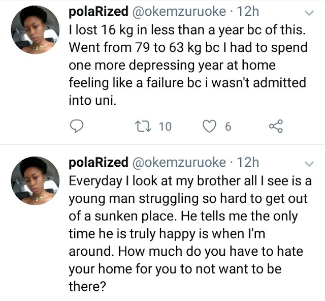 Lady raises alarm over the amount of academic pressure her parents put on her brother