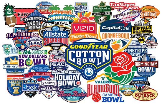 2017 Bowl Games Schedule Political Clown Parade 2017 2018 Bowl Game Predictions
