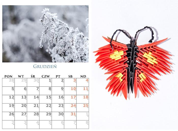 prezent z papieru - kalendarz i origami modułowe