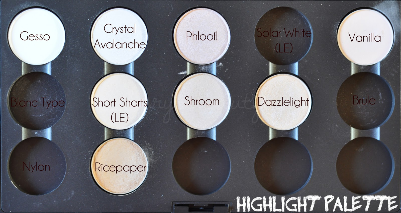 MAC Eyeshadow Swatches | Min make-up table