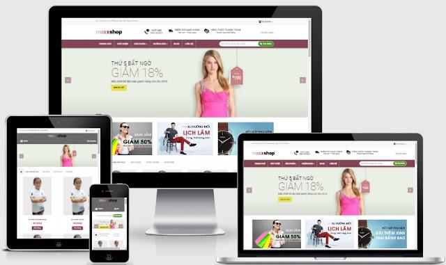 Maxxshop - Template blogspot bán hàng áo thun đẹp