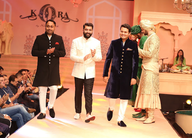 (LtoR)Sukhbir Bagga, MD, Planet Petal Group,Mitesh, Jinesh Shah, ED, Torrent walking the ramp