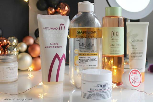 winter, skincare, beauty, merumaya, garnier, micellar water, kiehls, nip&fab, pixi beauty, sanctuary spa