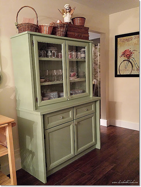 The scene-stealing china cabinet