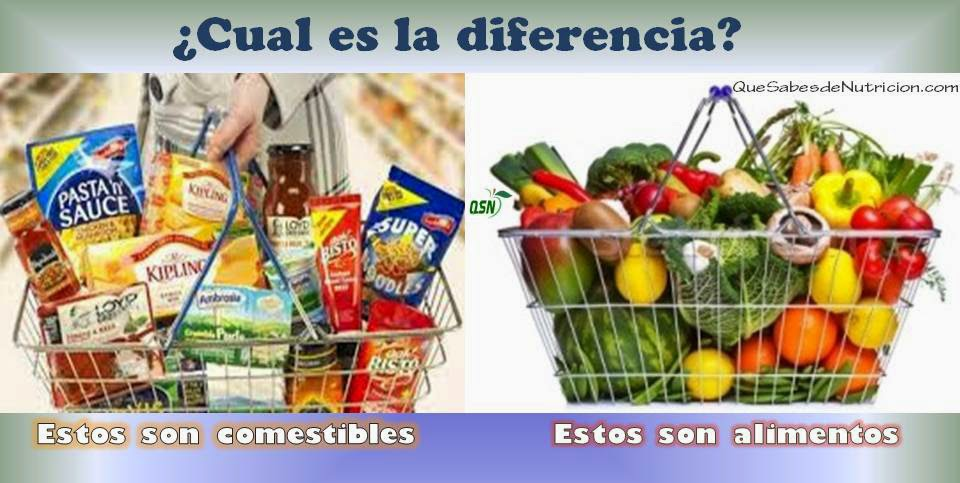 QSN: Distinguir un alimento de un comestible