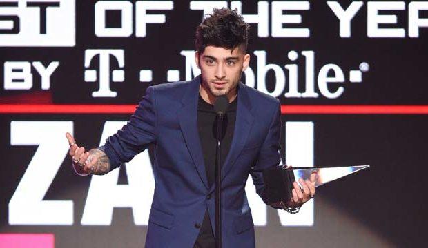 Zayn le agradeció a sus fans por haber ganado en los American Music Awards