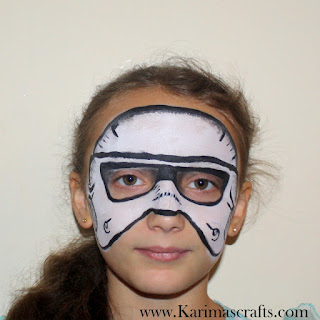 sci fi star wars dr who teenage mutant ninja turtles face painting storm trooper