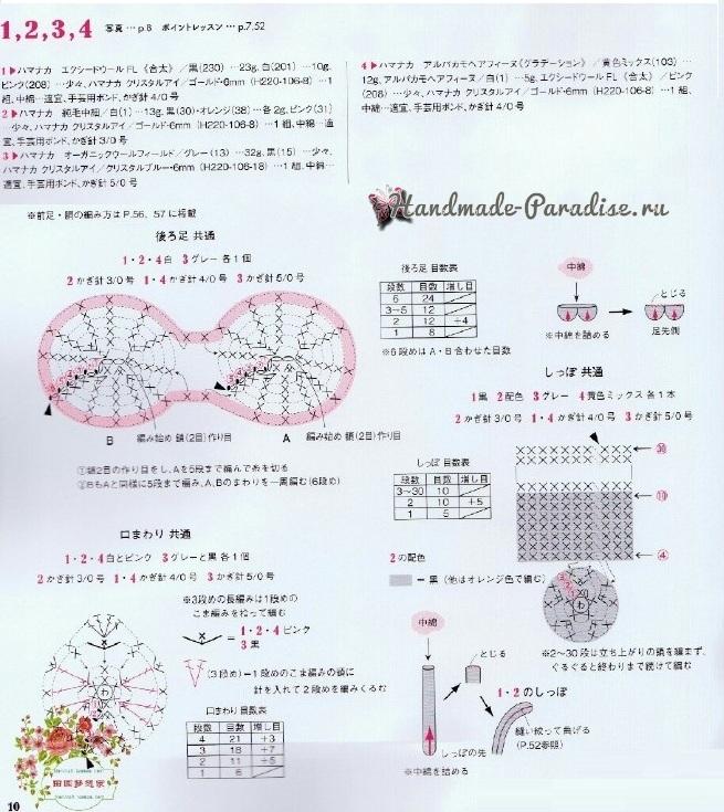 Кошки крючком. Схемы вязания (1)