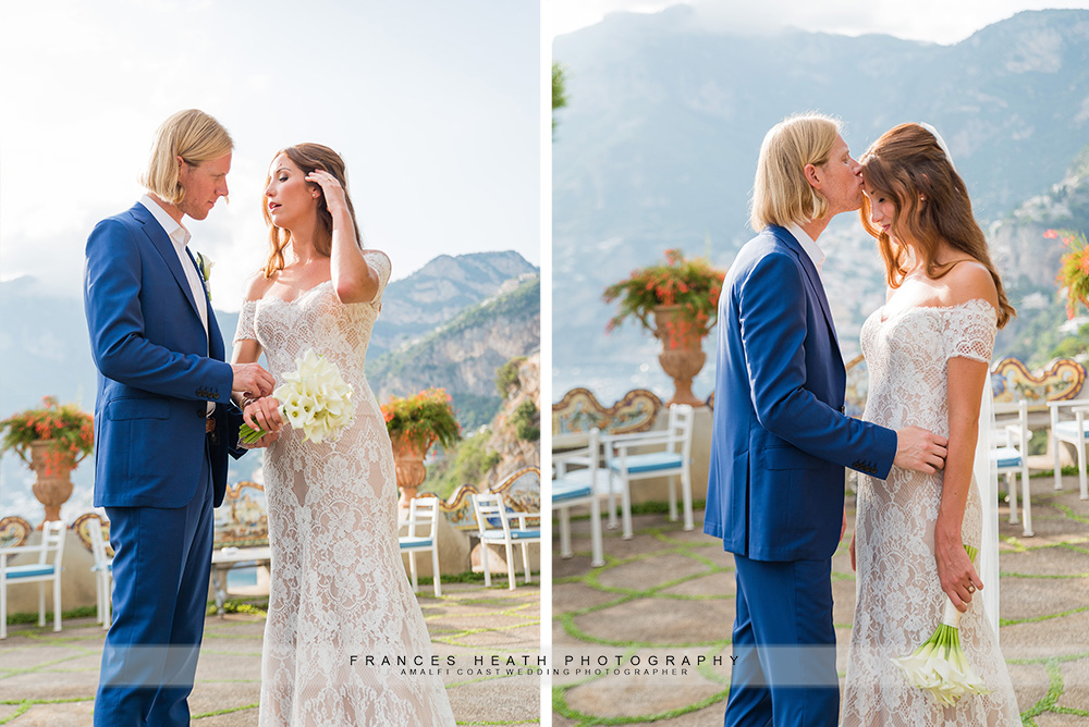 Wedding portraits on San Pietro terrace