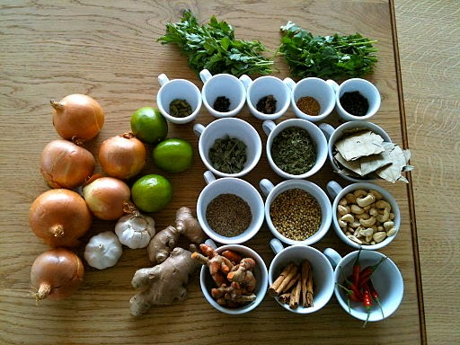 By Zak Greant from Vancouver, Canada (Spices, seasoning, herbs and vegetables) [CC-BY-2.0 (http://creativecommons.org/licenses/by/2.0)], via Wikimedia Commons