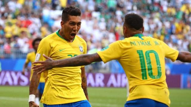Piala Dunia 2018: Neymar dan Firmino Antarkan Brasil ke Perempatfinal