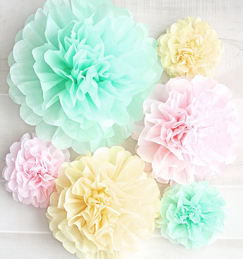Como Hacer Flores Y Pompones En Papel Crepe O Papel De Seda De Forma
