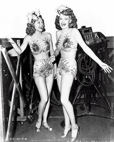 Rita Hayworth showgirl costume Cover Girl  Cover Girl 1944 movieloversreviews.filminspector.com