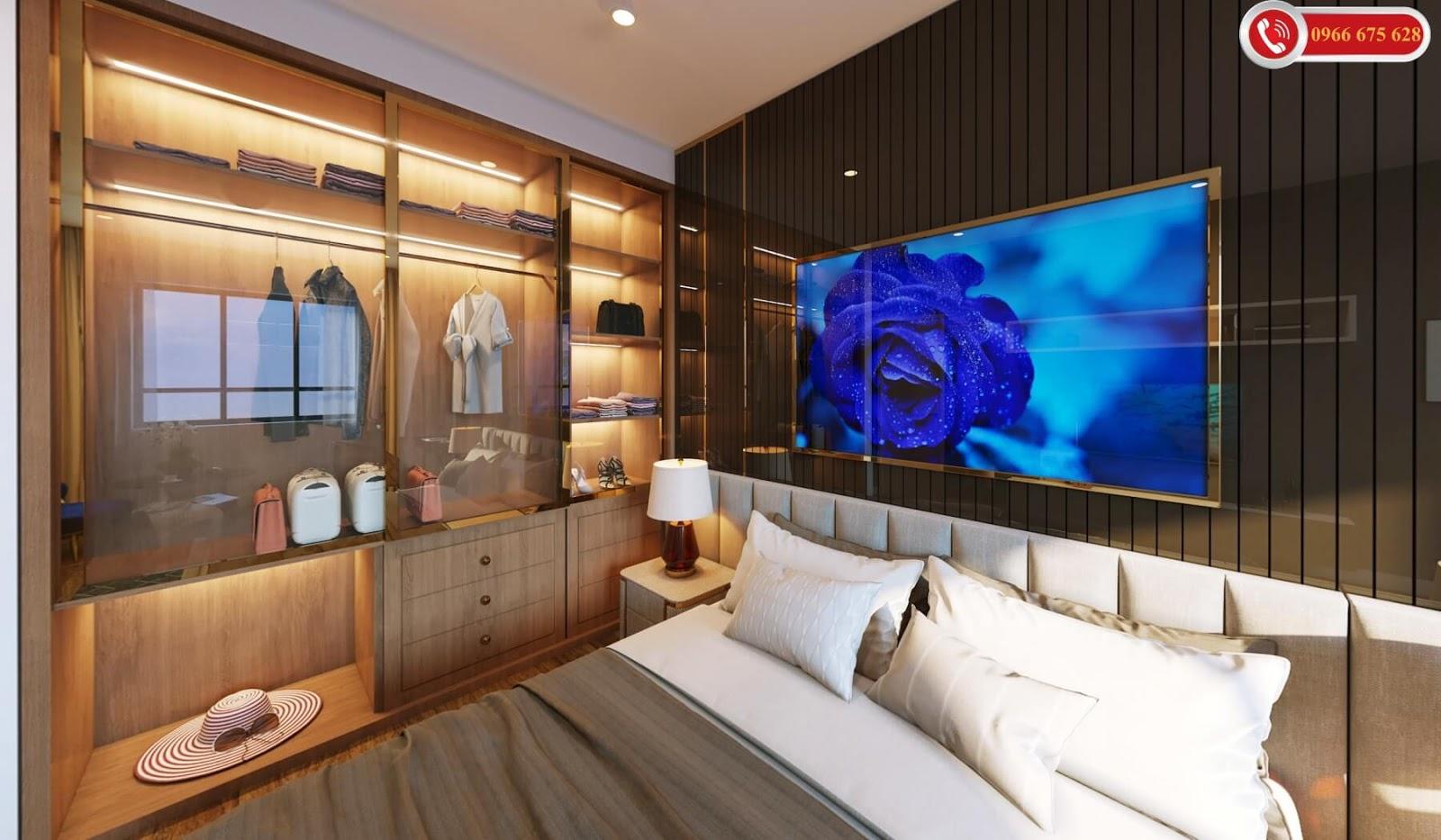Phòng ngủ dự án chung cư Amber Riverside Minh Khai
