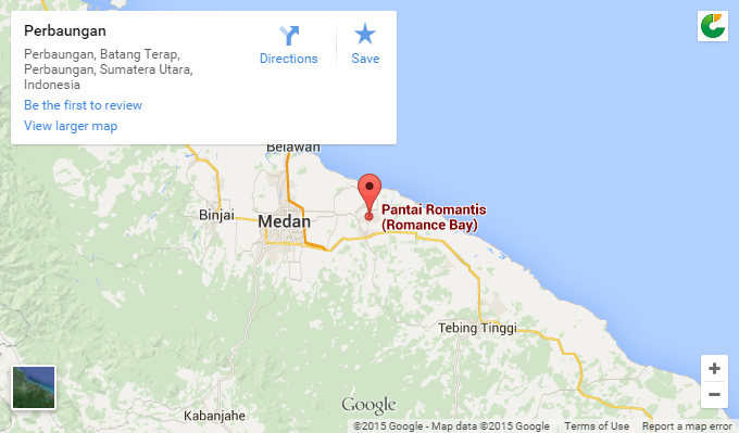 Map Romance Bay Pantai Romantis