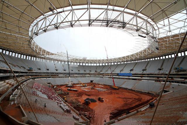 Obras civis no Estádio Nacional de Brasília chegam a 94%