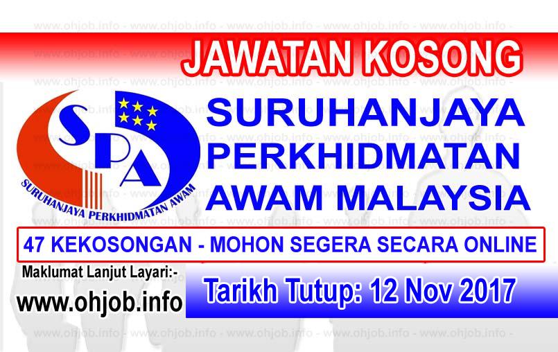 Jawatan Kerja Kosong SPA - Suruhanjaya Perkhidmatan Awam Malaysia logo www.ohjob.info november 2017