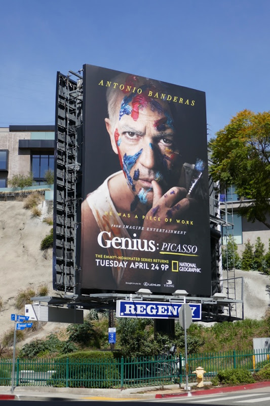 Genius Picasso series launch billboard