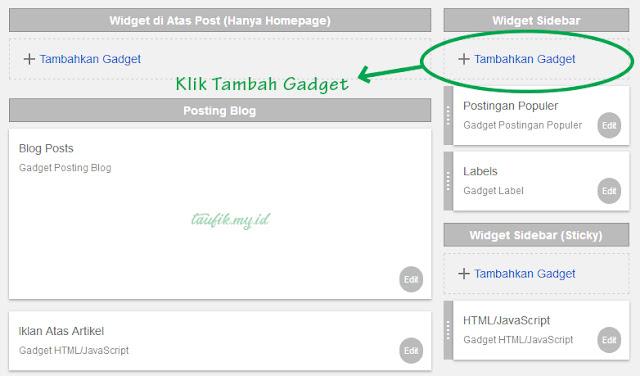 Tata letak template blog
