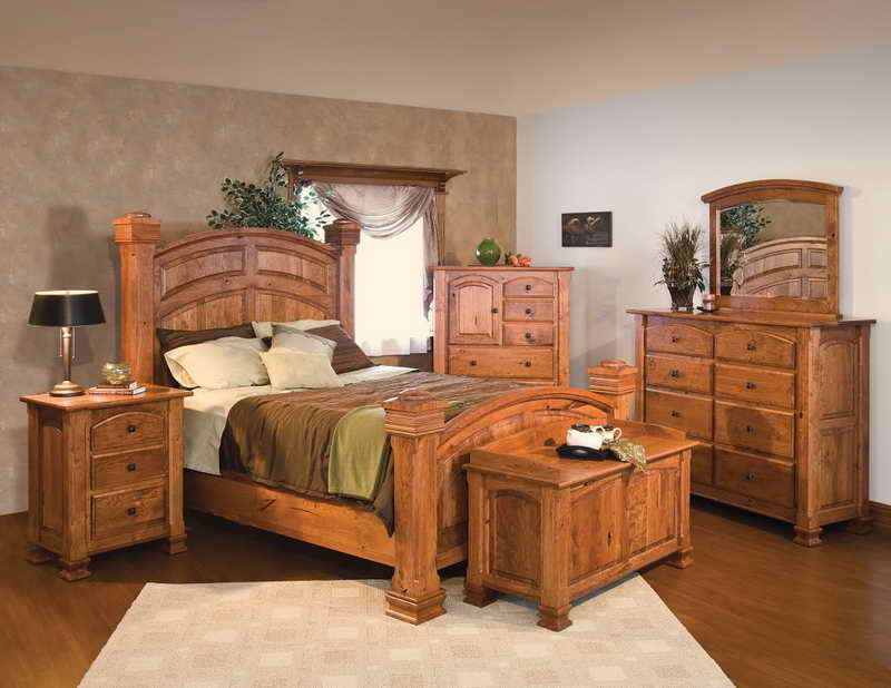 Rustic Solid Wood Bedroom Sets